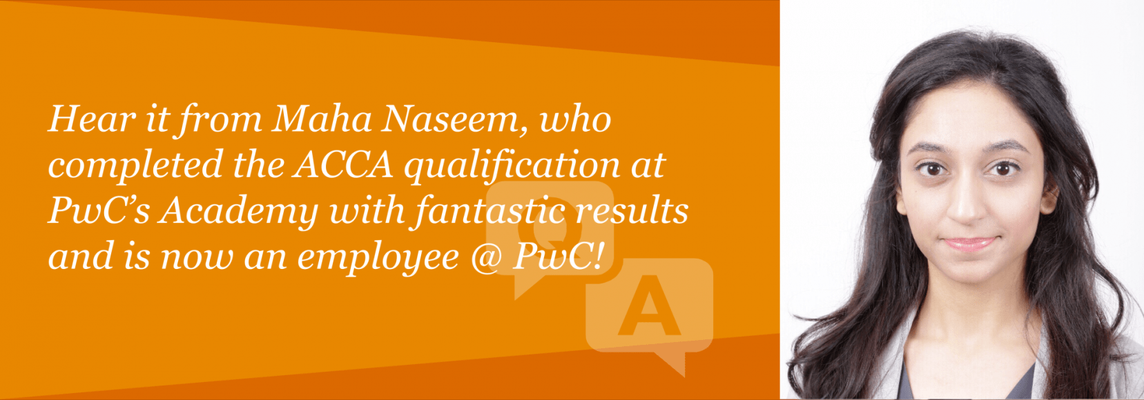 In conversation with Maha Naseem, P6 prize winner | PwC's